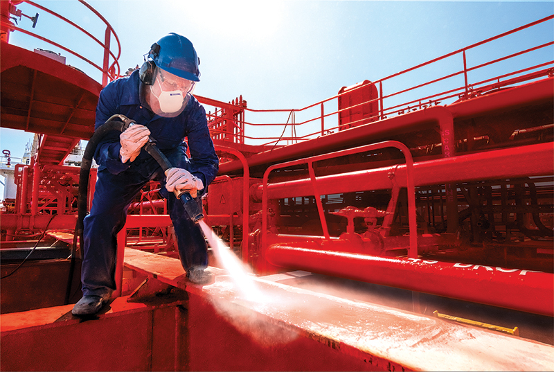 Surface preparation through Vapor Abrasive Blasting