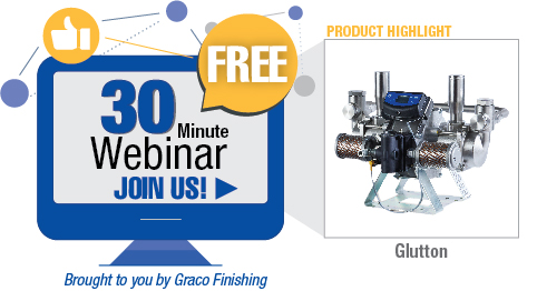 Join Graco Finishing for a free 30-minute webinar about servicing Glutton Pumps.