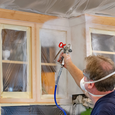 Painting Cabinets with a Graco Airless Sprayer