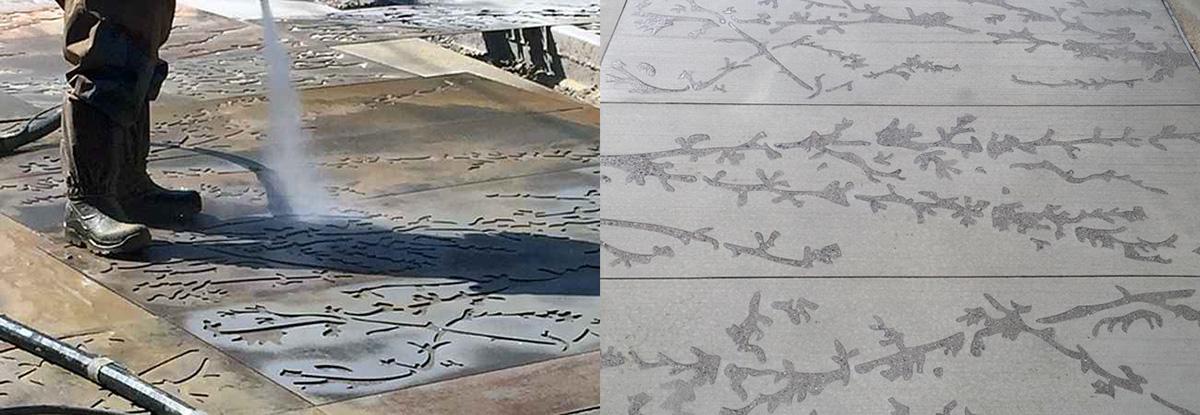 Curb Masters & EcoQuip | Sidewalk Stencil Concrete Texture