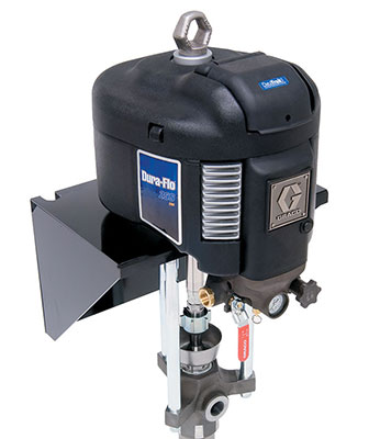 Dura-Flo pneumatic piston pumps use compressed air.