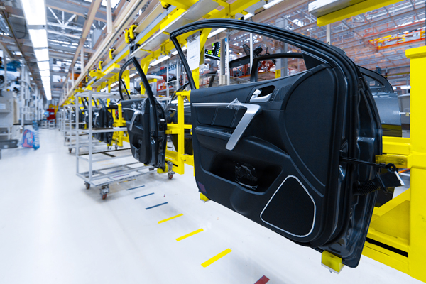 Car doors on automobile assembly line - thumbnail