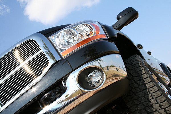 Pickup truck grill and headlight - Thumbnail