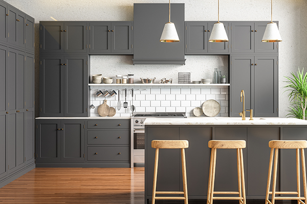 Grey kitchen cabinetry - Thumbnail