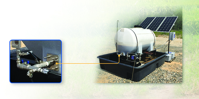 Tank level monitoring at an injection site