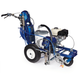 LineLazer V 5900 HP Automatic Series Petrol Airless Line Striper, 1 Auto Gun, 1 Manual Gun