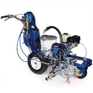 LineLazer V 3900 HP Automatic Series Petrol Airless Line Striper, 1 Auto Gun, 1 Manual Gun
