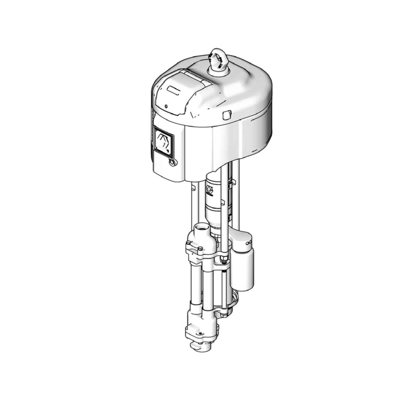 High-Flo 4-Ball Pump, CS, 2:1, Low Noise Exhaust, DataTrak