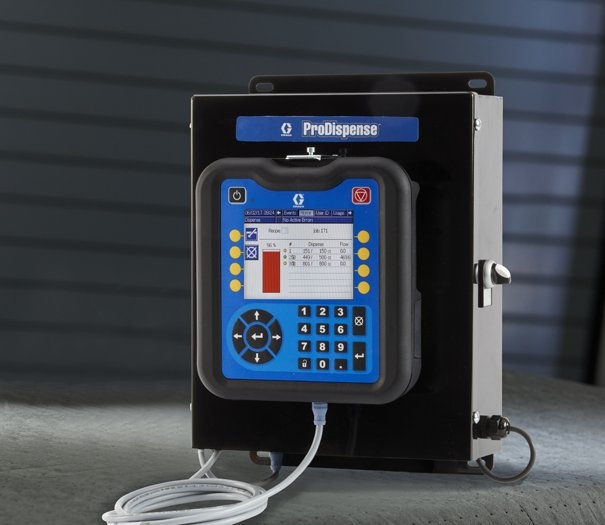 ProDispense control panel manages electronic fluid dispense and metering system.
