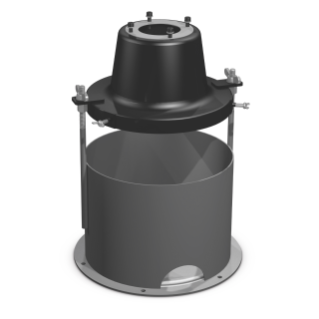 35 lb. (16 kg.) Pail Cover - Cylinder, Tie-Rods, Base to Convert 60 lb. (27 kg.) Length to 35 lb. (16 kg.) Bucket