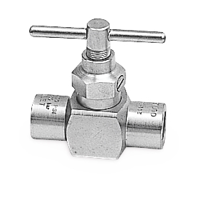 5000 psi (345 bar) High-Pressure Needle Valve - 1/2 in NPT Ported Valve for Drop-Line Isolation