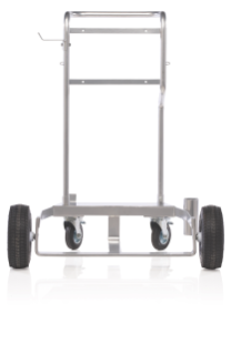 LD Series 50:1 Grease Pump Drum Cart with Pneumatic Wheels for 400 lb. Drums, Includes Chain for Securing Drum to Cart