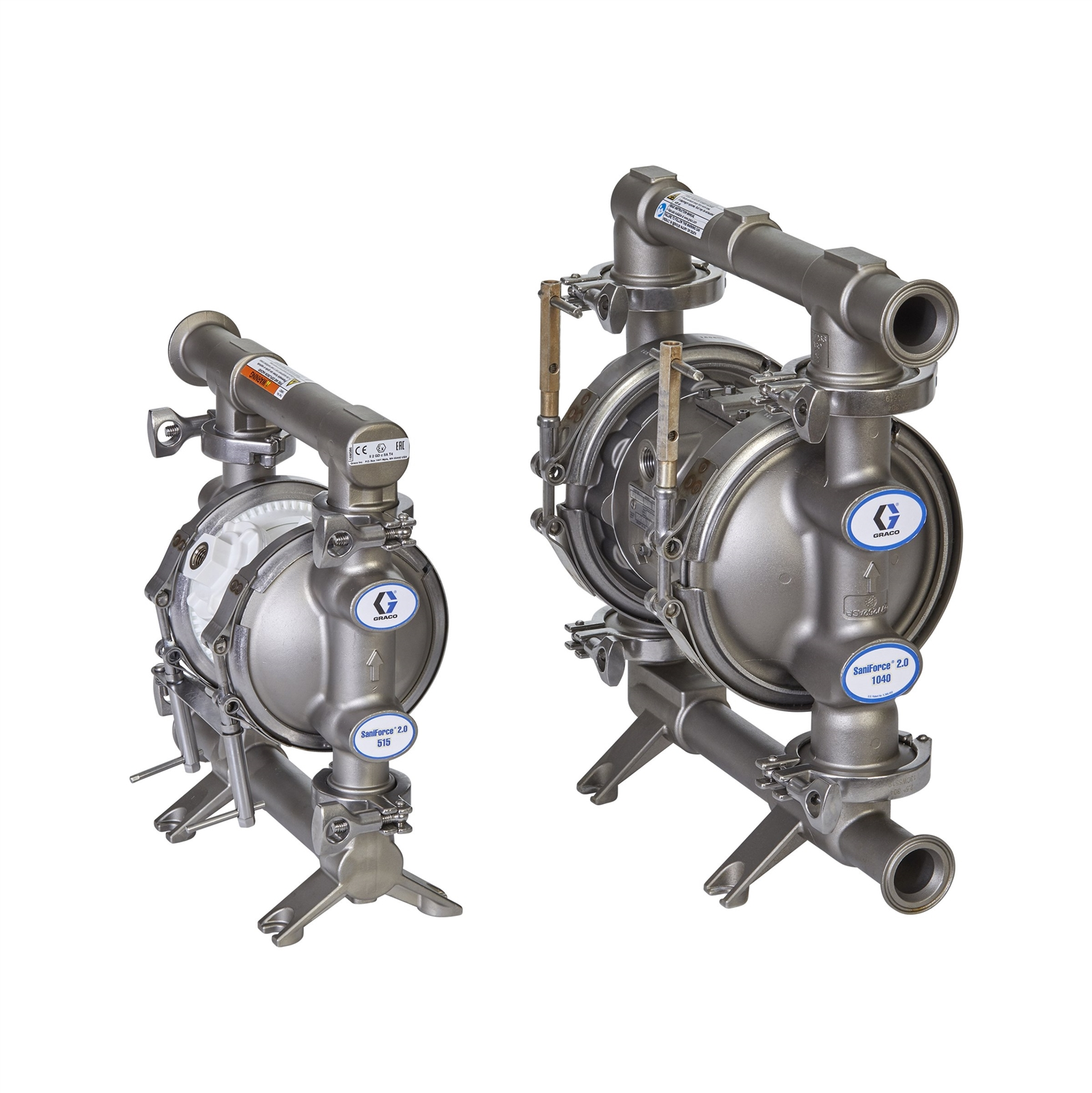 Graco SaniForce FD1111 Stainless Steel Sanitary Double Diaphragm Pump 1 40 GPM