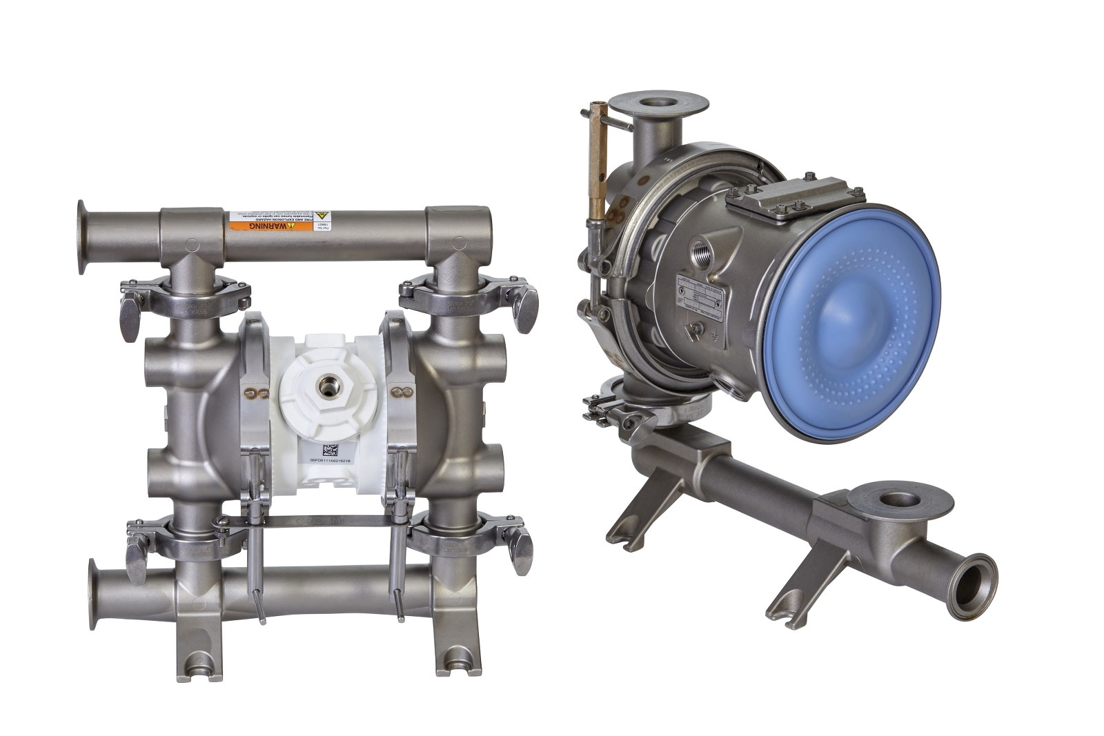 Sanitary stainless steel diaphragm pump