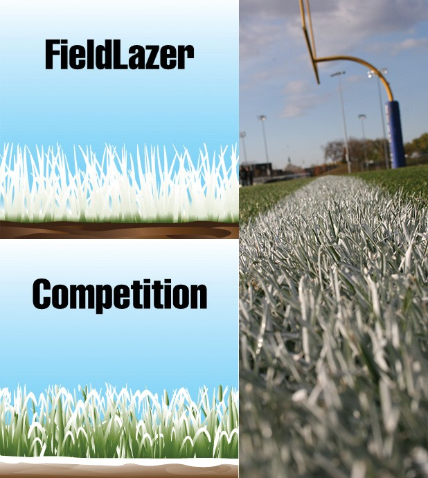 FieldLazer goal line close up