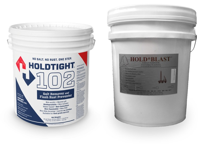 HOLDTIGHT and HOLD*BLAST help prevent flash rust