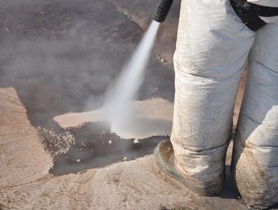 Vapor cleaning removes contaminants at rates that rival sandblasting, using a fraction of the water and abrasive.